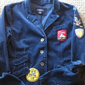 AMERICAN EAGLE OUTFITTERS NAVY CORDUROY JACKET!